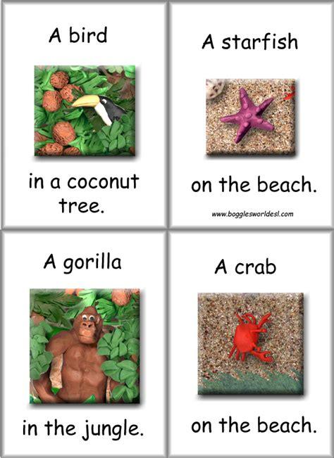Printable Animal Habitat Cards | flashcards animal habitat cards for esl