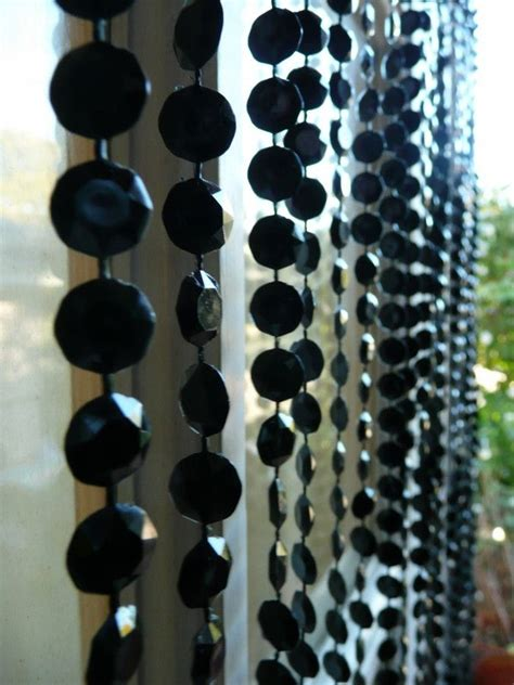 black beaded curtain black diamond cut beaded curtain beaded curtains