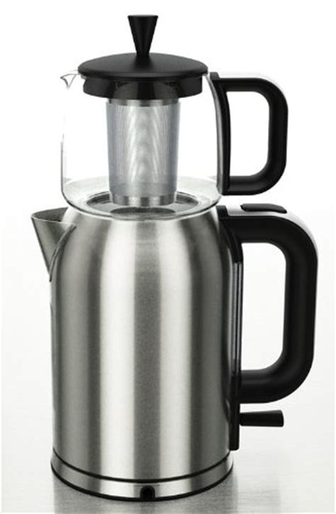GOLDA INC. Stainless Steel Turkish Tea Maker Samovar Electric Kettle with Boil Dry Protection