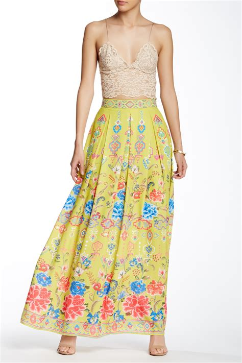 Maxi Strawberry chagne strawberry printed maxi skirt nordstrom rack