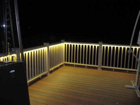 deck rail lighting garden decor pinterest