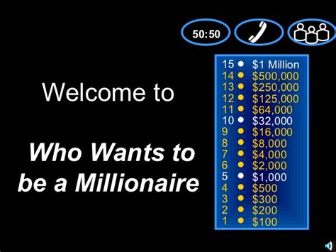 Who Wants To Be A Millionaire Who Wants To Be A Millionaire Templates