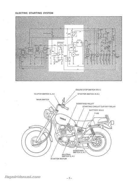 1981 yamaha sr250 wiring diagram wiring diagram