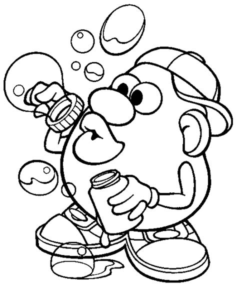 mr potatohead coloring page mr potato head bubbles