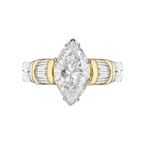 estate betteridge collection 2 30 carat marquise shaped