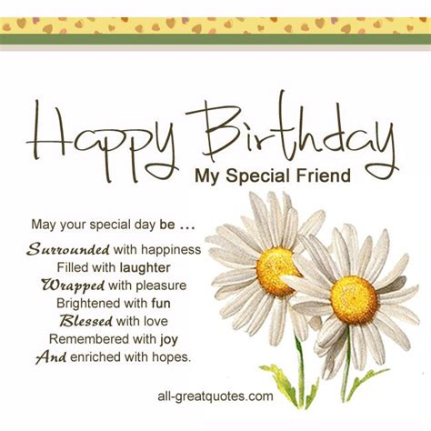 Wishing A Happy Birthday To A Special Friend Free Birthday Cards Happy Birthday My Special Friend
