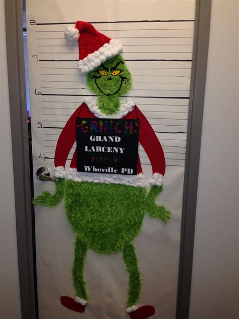 how to decorate a door for christmas the grinch christmas office door decorating contest