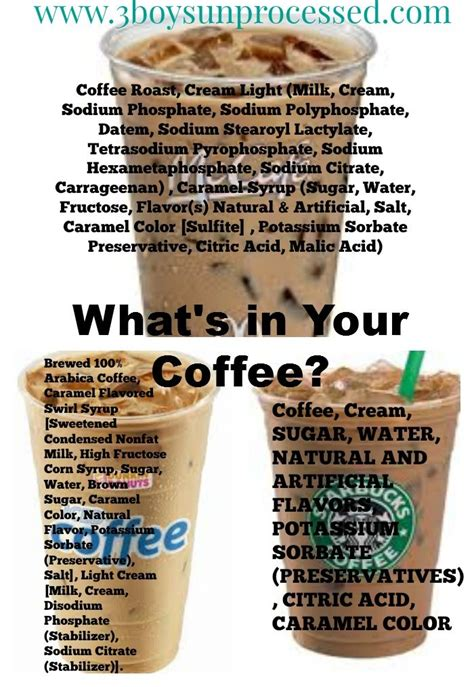 Detox Coffee Dunkin Donuts by What S In Your Coffee Coffee Donuts And Dunkin Donuts