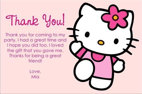 printable hello kitty thank you cards hello kitty thank you cards personalized party invites