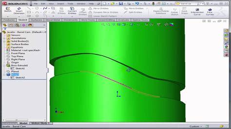 pattern along line solidworks model a barrel cam in solidworks youtube