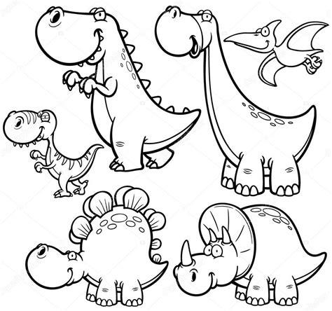 coloring book 2 dinosaurs dinosaurios vector de stock 54333343 depositphotos