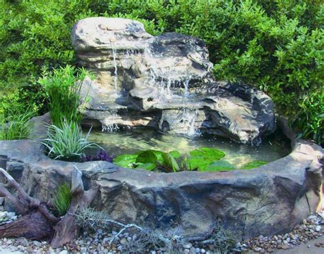 Garden Pond Kits - large universal rock patio pond garden pond waterfalls kits
