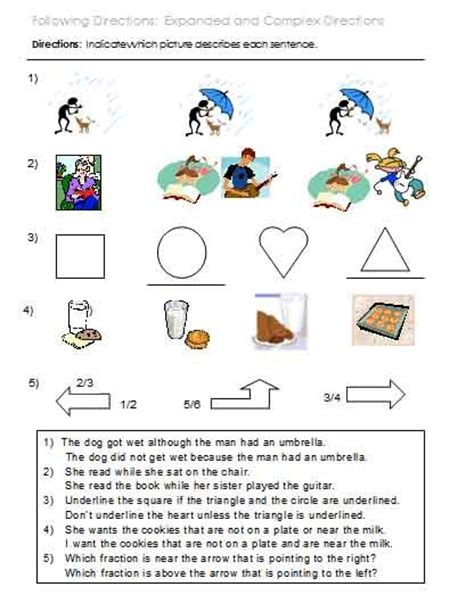 Auditory Memory Activities Worksheets by 17 Best Images About Auditory Processing Memory Following