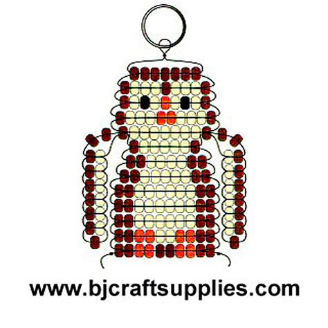bead keychain patterns beaded owl key chain