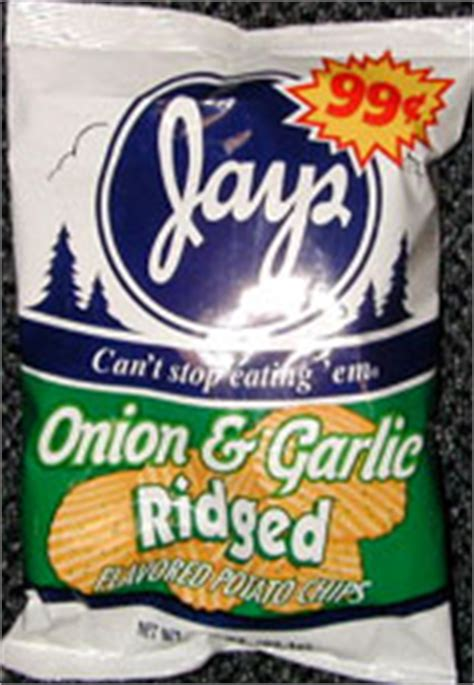 jays onion garlic ridged potato chips
