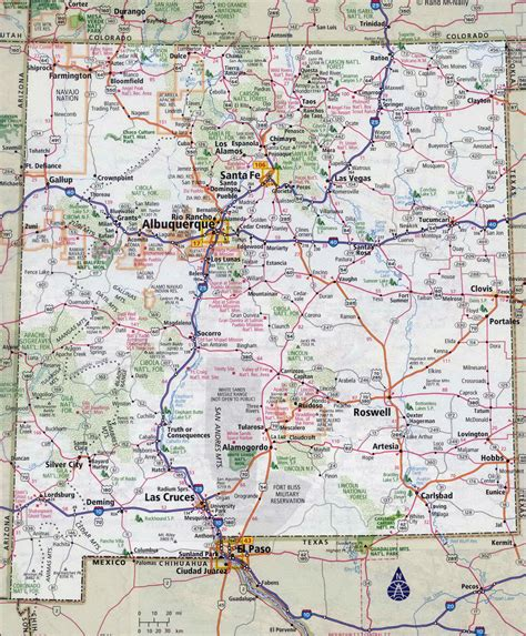 texas and new mexico map with cities new mexico road map jorgeroblesforcongress