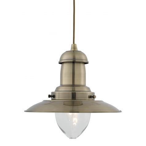 Pendent Light Fixtures Fisherman Antique Brass Ceiling Pendant Light