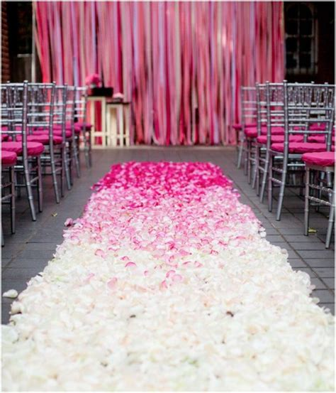 wedding inspiration an outdoor ceremony aisle wedding bells 17 best images about pink wedding on