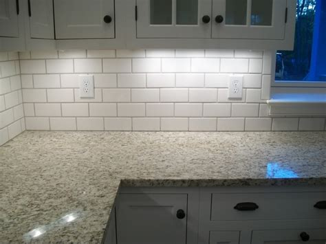 Kitchen Subway Tile Backsplash White Cabinets Backsplash And Also Kitchens Ideas Subway Tile With Home Design Best Free