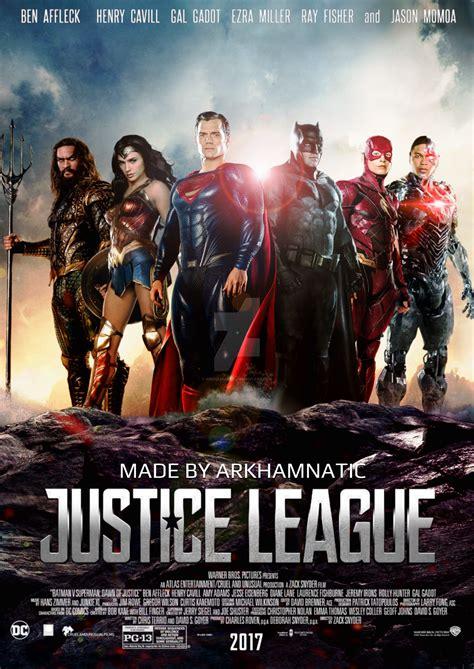 film bioskop justice league justice league movie poster by arkhamnatic on deviantart