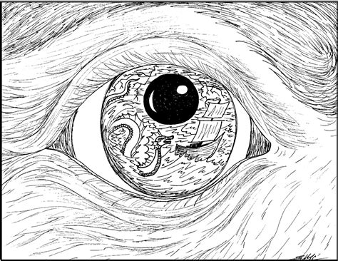 coloring page eyeball surrealistic coloring pages s mac s place to be