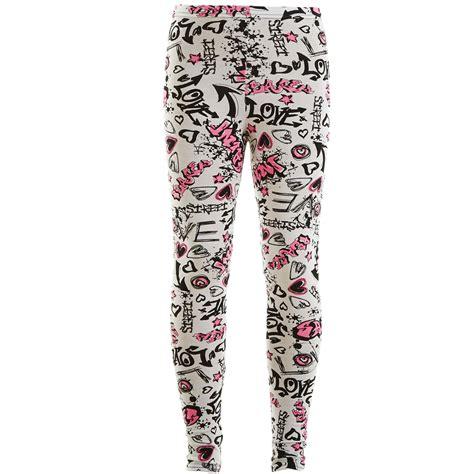 Legging Wanita Motif Leopard C02303 enfants filles bd graffiti fleur l 233 opard 201 cossais imprim 233 azt 232 que legging ebay