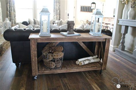 Diy Console Table Plans Easy Diy Console Table