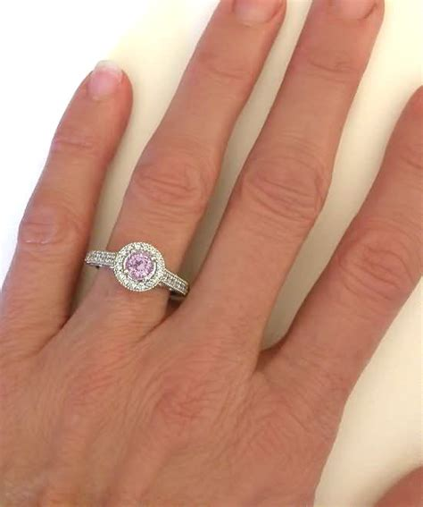 light pink sapphire engagement rings halo ring with beautiful light pink sapphire