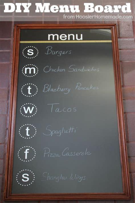 diy chalkboard menu diy menu board hoosier