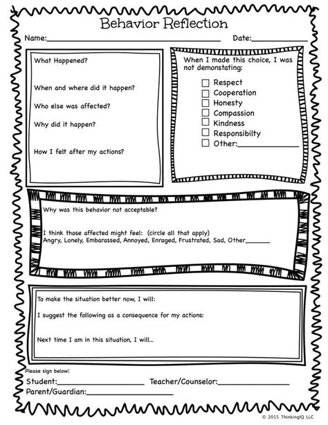 Apology Letter Kindergarten 25 Best Ideas About Behavior Reflection Sheet On Behavior Reflection Behavior