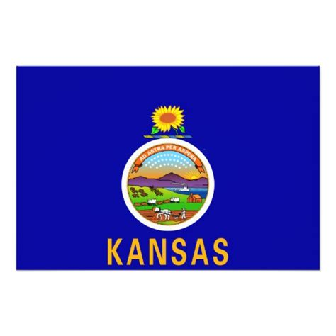 Printable Kansas Flag