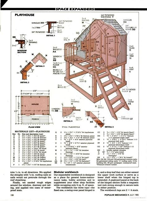 playhouse floor plans treehouse blueprints architecture tree houses pinterest build a playhouse diy and crafts