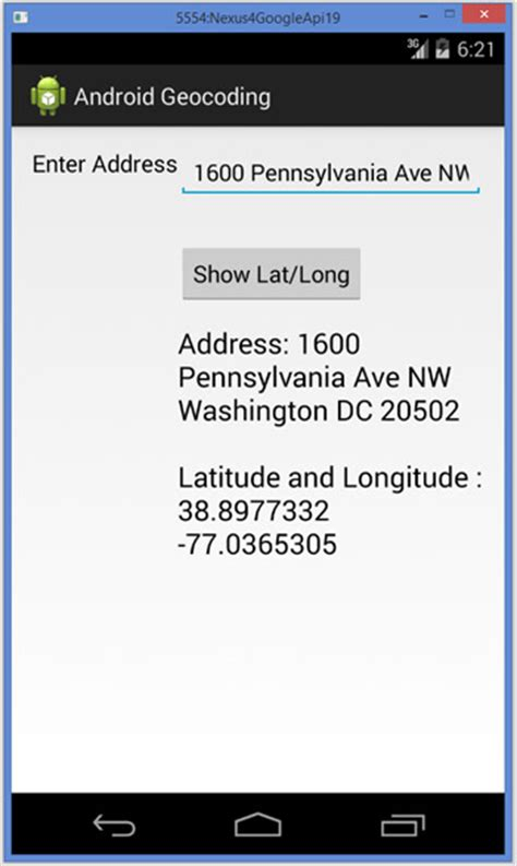 Latitude And Longitude Finder Address Android Geocoding To Get Latitude Longitude For An Address Java Tutorial