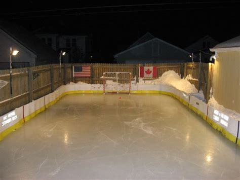 new backyard rink design ideas how to build backyard