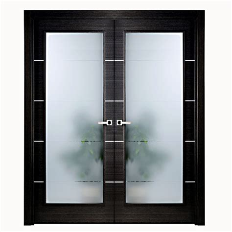 Glass Paneled Interior Doors Aries Modern Interior Door Black With Glass Panels Aries Interior Doors