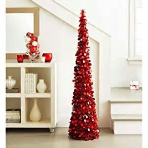 amazon com 5 ft collapsible tinsel tree pop up slim