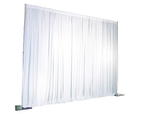 white pipe and drape event drape per foot white industry event rentals