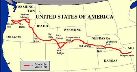 map of oregon trail capt spaulding s world saturday s oregon trail day