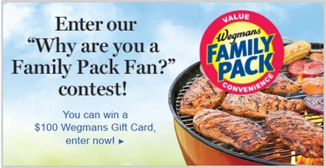 Wegmans Grocery Store Gift Cards - enter to win a 100 wegmans gift card