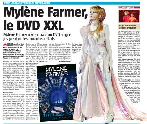critique du film les z 233 vad 233 s de l espace allocin 233 myl 232 ne farmer timeless 2013 quot le dvd xxl quot pour la presse