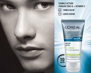 Wajah Loreal wajah pria lebih cerah bebas kilap berkat l oreal