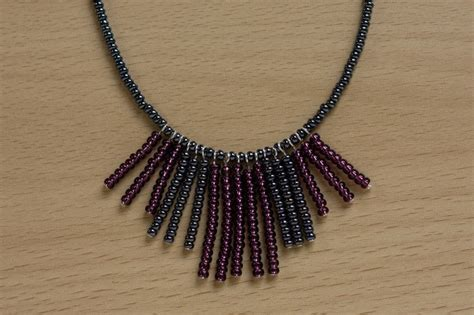 seed bead fringe necklace 183 how to bead a beaded tassel