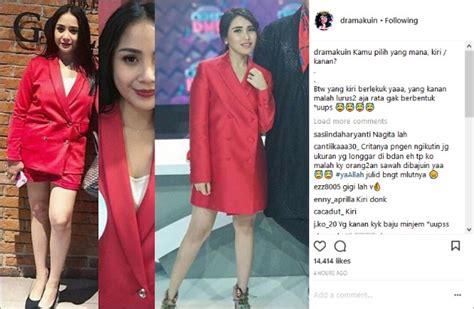 Blazer Nagita Slavina ayu ting ting pakai blazer merah netter sindir plagiat dan pinjam nagita