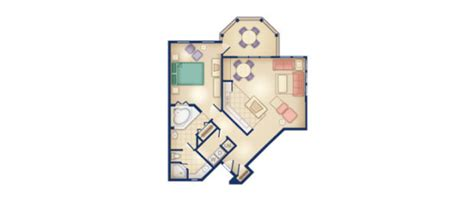 old key west 1 bedroom villa floor plan disney s old key west resort disney vacation club rental