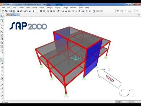 sap tutorial csi structural software for analysis and design sap2000