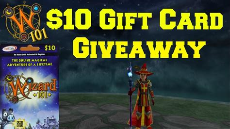 Wizard101 10 Gift Cards - wizard101 gift card giveaway 2017 youtube