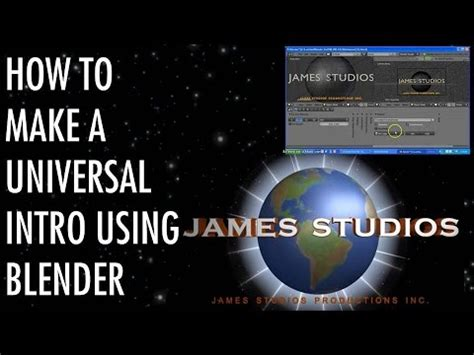 blender tutorial universal logo universal intro done in blender iceluciario2012 style