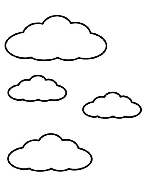 Printable Cloud Coloring Pages Coloring Me Coloring Pages Clouds