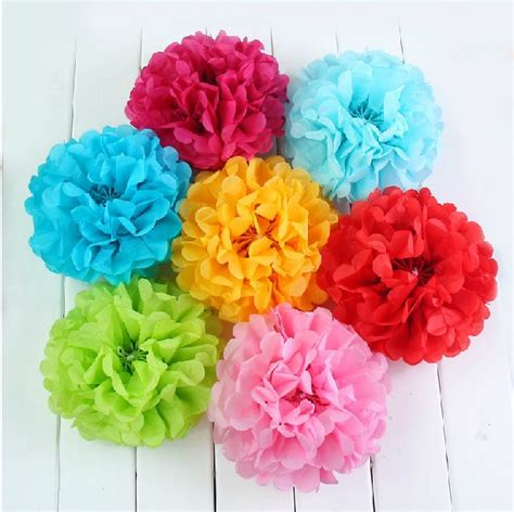 How To Make Flower Balls With Tissue Paper - shop popular origami paper from china aliexpress