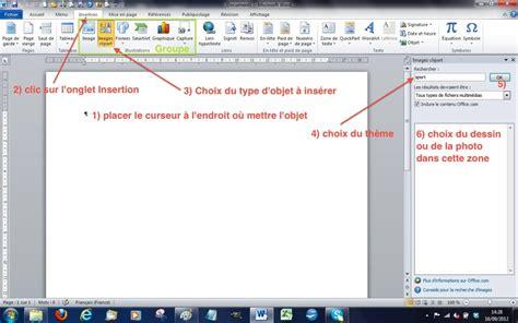 word 2010 clipart module 3 bureautique word 2010 writer 3 et 4 bases